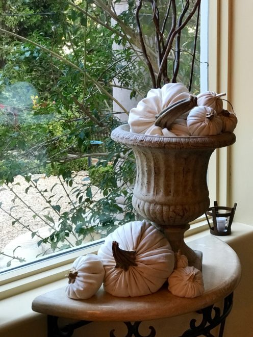 DECORATING FOR FALL WITH DIY CLOTH PUMPKINS | www.AfterOrangeCounty.com