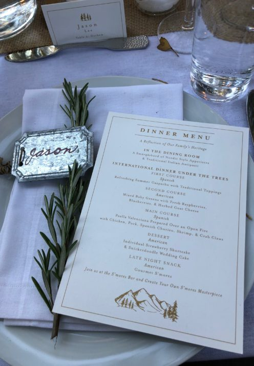 THE ABSOLUTE BEST EVER WEDDING DINNER MENU | www.AfterOrangeCounty.com