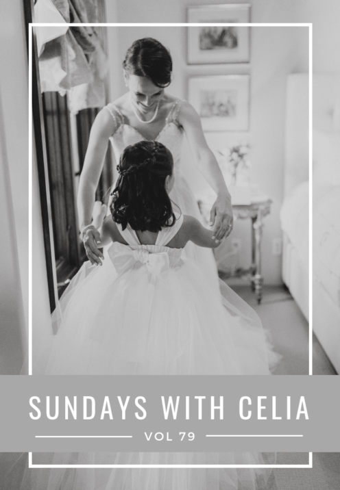 SUNDAYS WITH CELIA VOL 79 | Lake Arrowhead Wedding | Brides Dress BHLDN | Flower Girl Dress Etsy | www.AfterOrangeCounty.com