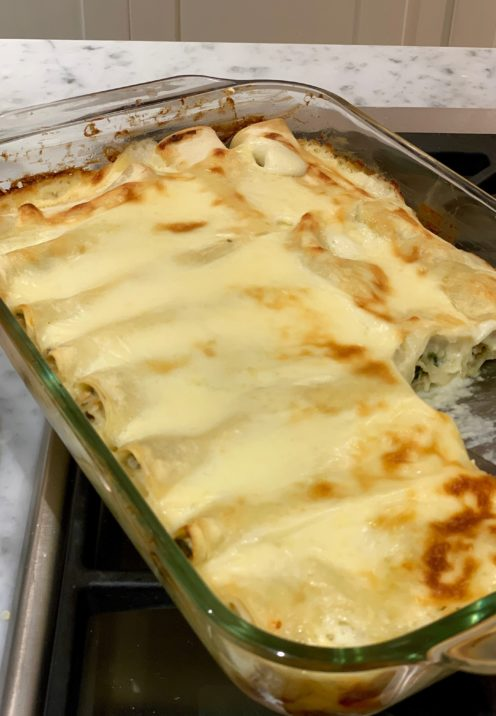 CHICKEN AND SPINACH CANNELLONI RECIPE | www.AfterOrangeCounty.com