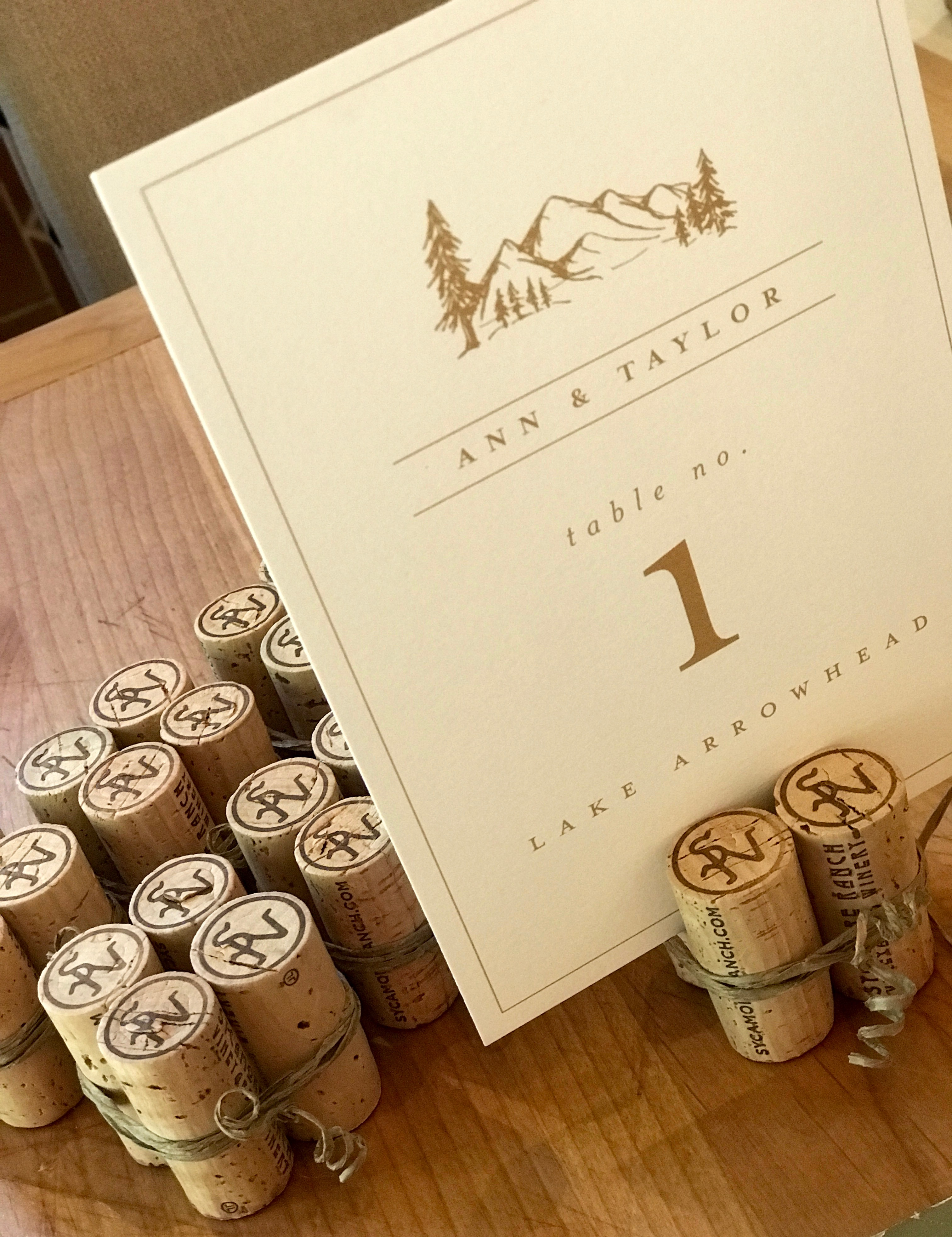 Wine Cork Place Card Holders Used For Weddings Baptism Party Table Decor Wine Corks Crafts
