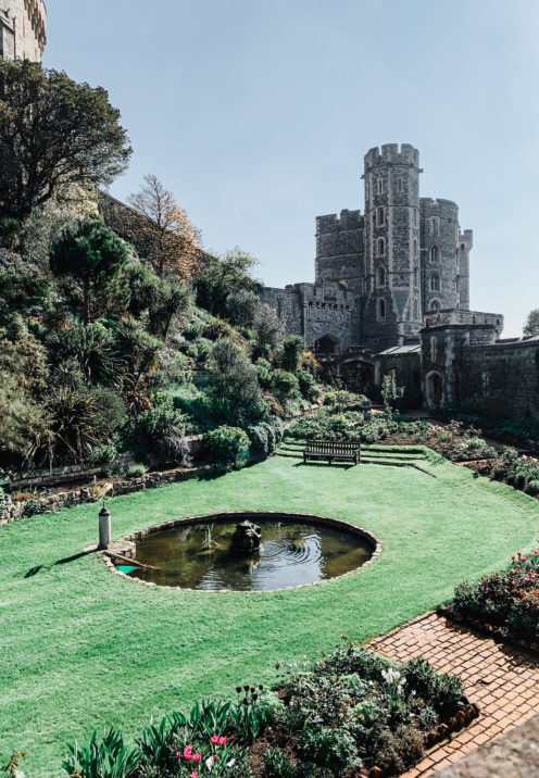 A VISIT TO ENCHANTING WINDSOR CASTLE | The Middle Ward, built around the original Norman motte and crowned by the Round Tower | www.AfterOrangeCounty.com