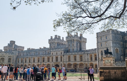 A VISIT TO ENCHANTING WINDSOR CASTLE | The Upper Ward Quadrangle | www.AfterOrangeCounty.com