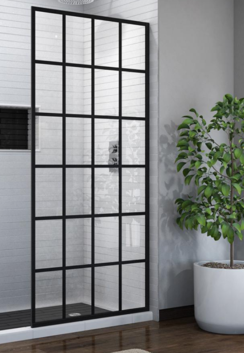 SUNDAYS WITH CELIA VOL 90 | French Linea Toulon 34 in. x 72 in. Frameless Fixed Shower Door in Satin Black | www.AfterOrangeCounty.com