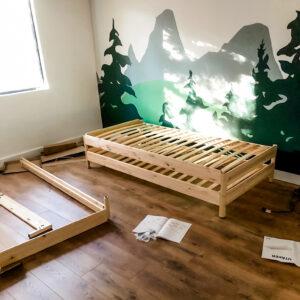 BIG BEAR LAKE HOUSE KID'S ROOM REMODEL | UTAKER Stackable Beds from IKEA | www.AfterOrangeCounty.com