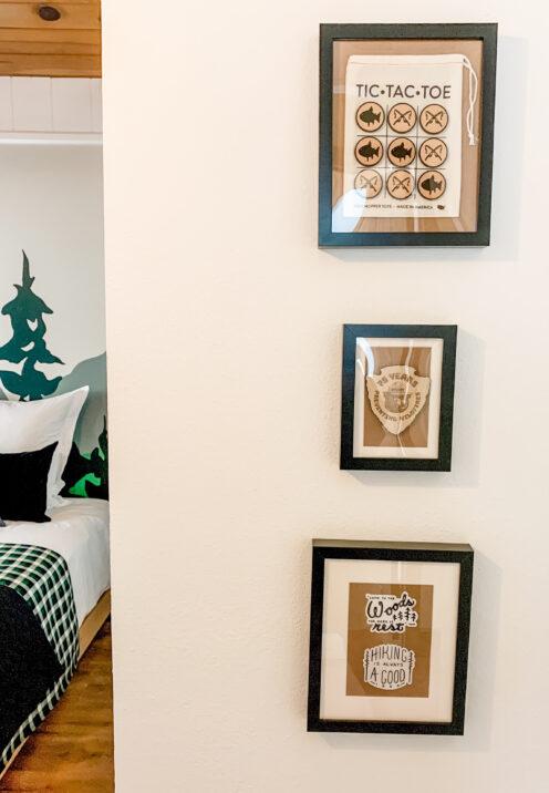 BIG BEAR LAKE HOUSE KID'S ROOM REMODEL | Inexpensive DIY Wall Art | www.AfterOrangeCounty.com