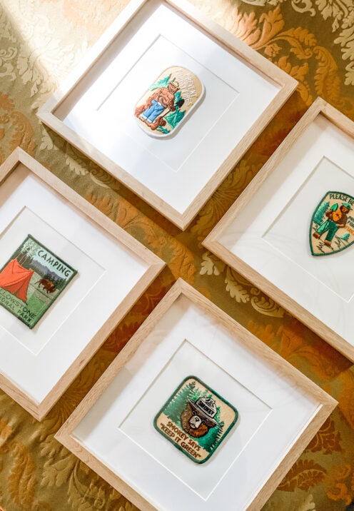 BIG BEAR LAKE HOUSE KID'S ROOM REMODEL | Embroidered Patches as Art | www.AfterOrangeCounty.com