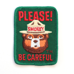 BIG BEAR LAKE HOUSE KID'S ROOM REMODEL | Official Smoky Bear Embroidered Patch | www.AfterOrangeCounty.com