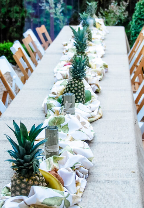 UPGRADE YOUR ALFRESCO DINING EXPERIENCE AT HOME | Luau Table-setting | www.AfterOrangeCounty.com