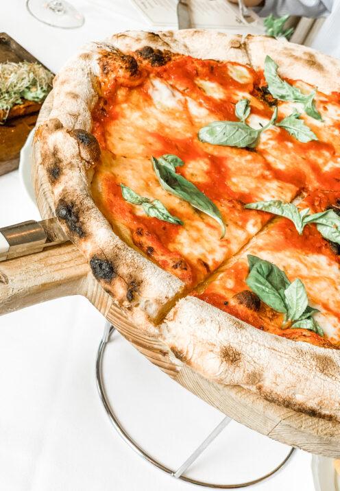 CHECKING INTO THE KIMPTON LA PEER HOTEL | Viale dei Romani Trattoria | Pizza Margherita with di Stefano Mozzarella, San Joaquin tomatoes & local basil | www.AfterOrangeCounty.com