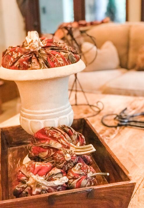 SUNDAYS WITH CELIA VOL 95 | Decorating With DIY Cloth Pumpkins | www.AfterOrangeCounty.com #DIY Cloth Pumpkins