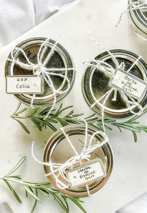 AN EASY THANKSGIVING TABLESCAPE TO IMPRESS | Herbs de Provence Salt | www.AfterOrangeCounty.com