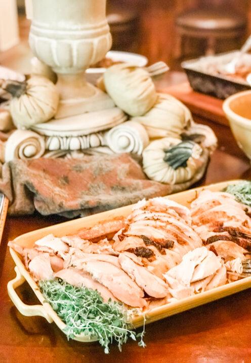 AN EASY THANKSGIVING TABLESCAPE TO IMPRESS | Brine-Cured Roast Turkey | www.AfterOrangeCounty.com