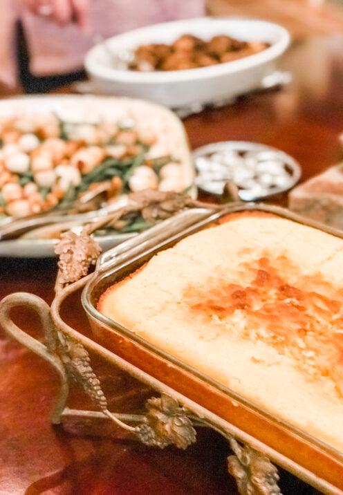 AN EASY THANKSGIVING TABLESCAPE TO IMPRESS | Thanksgiving Dinner | Sweet Cornbread Recipe | www.AfterOrangeCounty.com