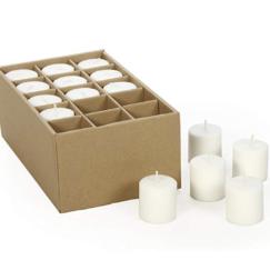AN EASY THANKSGIVING TABLESCAPE TO IMPRESS | Votive Candles | www.AfterOrangeCounty.com #MasonJars #VotiveCandles