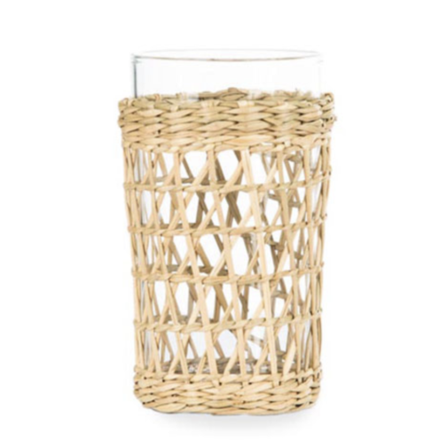 AN EASY THANKSGIVING TABLESCAPE TO IMPRESS |  Rattan Wrapped Drinking Glasses | www.AfterOrangeCounty.com #RattanWrappedDrinkingGlasses #Horchow