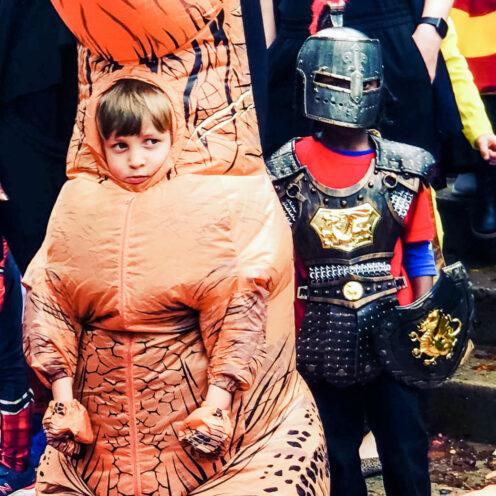 SUNDAYS WITH CELIA VOL 96 | Halloween T-Rex | www.AfterOrangeCounty.com