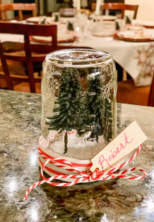 SUNDAYS WITH CELIA VOL 99 | Christmas Trees in a Jar Place Cards | www.AfterOrangeCounty.com