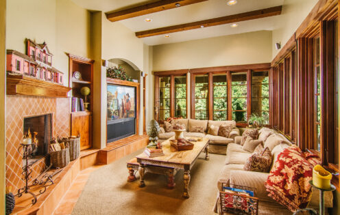 SUNDAYS WITH CELIA VOL 104 | Lake Arrowhead House For Sale | Family Room | www.AfterOrangeCounty.com #Lake Arrowhead #HouseForSale #Lake ArrowheadRealEstate