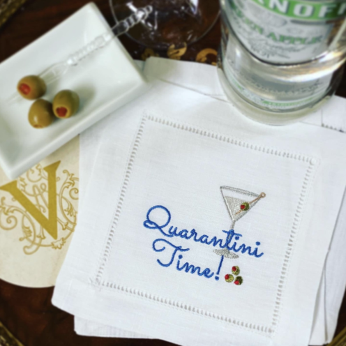 SUNDAYS WITH CELIA VOL 105 | Quarantini Cocktail Napkin | www.AfterOrangeCounty.com #QuarantiniCocktailNapkin #Etsy