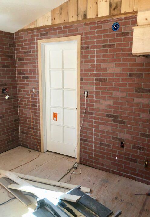 THE COTTAGE ON CATALINA KITCHEN REVEAL | www.AfterOrangeCounty | #Kitchen #KitchenRenovation #BigBearLakeCottage #Lowes #BrickPaneling