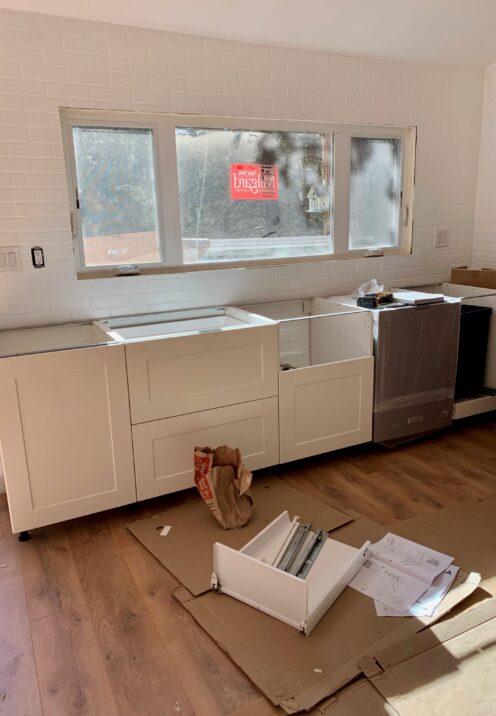 THE COTTAGE ON CATALINA KITCHEN REVEAL | www.AfterOrangeCounty | #Kitchen #IKEA #IKEAKitchen #KitchenRenovation #BigBearLakeCottage